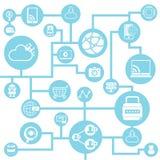 Social network, social media Stock Photos