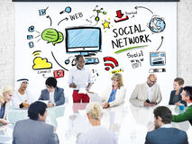 Social Network Social Media Business People Meeting Concept Stock Photo