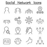 Social Network & Social Media icon set in thin line style. Social Network & Social Media icon set in thin line style  illustration graphic design Stock Photography