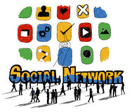 Social Network Social Media Internet Web Online Concept Stock Photos