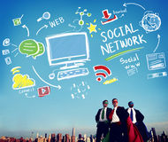 Social Network Social Media Internet WWW Web Online Concept Royalty Free Stock Photo