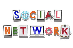 Social Network Social Media Technology Connected Concept Stock Image