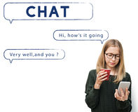 Social Network Speech Bubble Text Graphic Concept Stock Photo