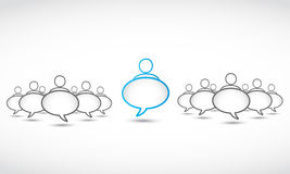Social network speech bubbles Royalty Free Stock Photo