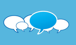 Social network speech bubbles Royalty Free Stock Images