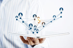 Social network structure as concept Royalty Free Stock Photo