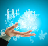 Social network structure Royalty Free Stock Photography