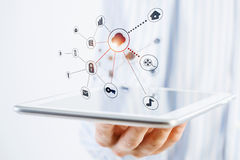 Social network structure Stock Image