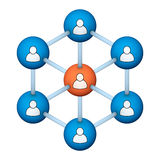 Social network symbol Royalty Free Stock Image