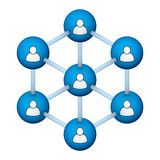 Social network symbol Royalty Free Stock Photography