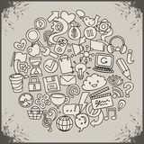 Social network symbols Stock Images