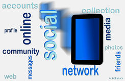 Social network on tablet Stock Photography