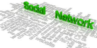 Social network tag cloud Stock Photography