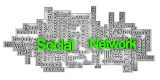 Social network tag cloud Royalty Free Stock Photography