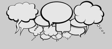 Social Network Talk Bubbles Stock Image