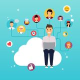 Social network and teamwork concept for web info graphic. Set of Stock Photos