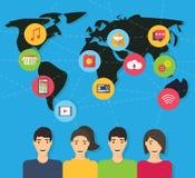 Social network and teamwork vector Stock Image