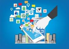 Social network technology design concept Stock Photo
