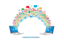 Social network technology design concept Royalty Free Stock Photo