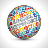 Social Network theme sphere Royalty Free Stock Image