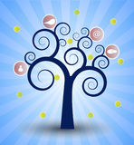The social network tree Royalty Free Stock Images