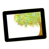 Social network tree. Blog Symbol on a tablet pc. Business growing Royalty Free Stock Photography