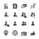 Social network user icon set, vector eps10 Stock Images