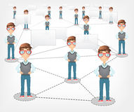 Social Network. Vector EPS 10. Stock Images