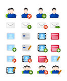 Social network vector icon set Royalty Free Stock Image