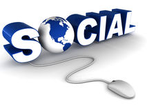 Social network on web Royalty Free Stock Images