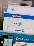 Social Network websites Royalty Free Stock Photos