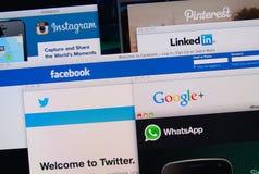 Social network websites Stock Photos