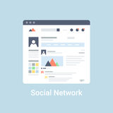 Social Network Wireframe Stock Images