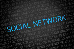 Social network word cloud Royalty Free Stock Photos