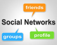Social Network Words Means Web Forums And Blogging. Social Network Words Showing Blogging Forums And Online Stock Photo