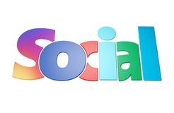 Social network write Royalty Free Stock Photos