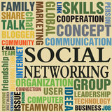 Social networking. Abstract colorful illustration with colorful words all related to social networking. Social networking concept Royalty Free Stock Photography