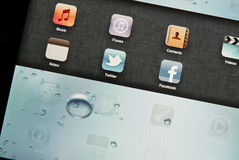 Social Networking. Twitter and Facebook Social Network Apps On Apple Ipad Stock Images
