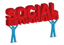 Social Networking 3D Illustration Stock Photography