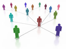 Social Networking Stockbild