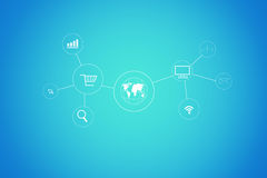 Social Networking stock abbildung