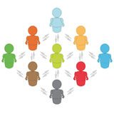 Social networking. Anonymous people connected on a network