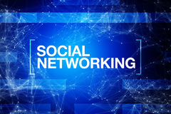 Social networking abstract blue background Royalty Free Stock Image