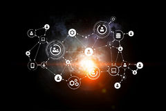 Social Networking background Stock Image