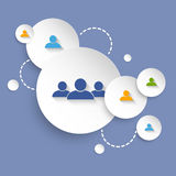Social networking background stock illustration