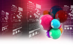 Social networking bubbles Royalty Free Stock Photography