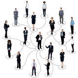 Social networking between business people Stock Photos