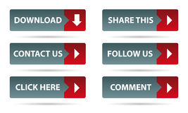 Social networking buttons Stock Photography