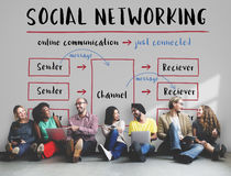 Social Networking Channel Diagram Graphic Concept Stock Images