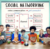 Social Networking Channel Diagram Graphic Concept Stock Photo